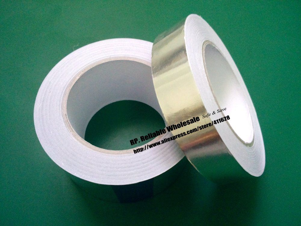 1x20mm * 40 metros * 0.06mm Adhesiva del Papel De Aluminio de Cinta para BGA PCB Soldadura Masking EMI blindaje