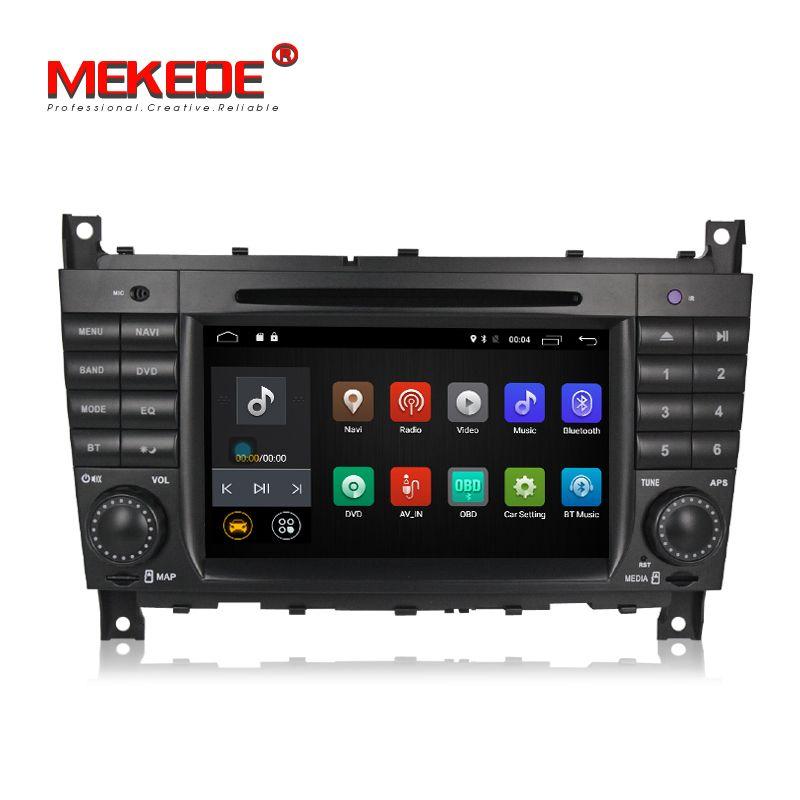 Freies verschiffen! Reine Android7.1 Smart auto navigation GPS DVD player für Mercedes/Benz W203 W209 C-Klasse C180 C200 CLK200