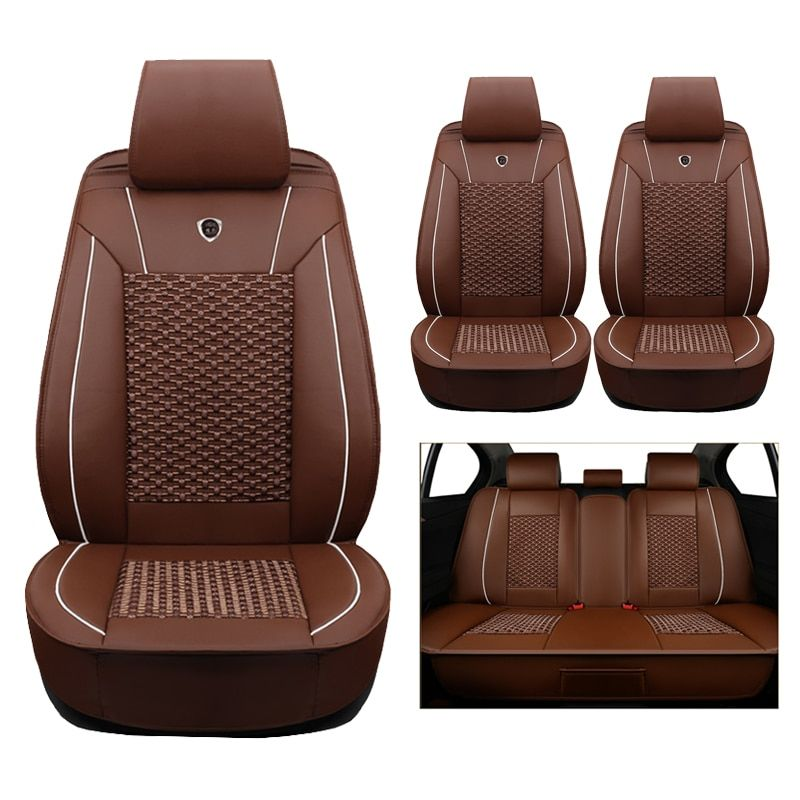High quality (leather+silk) car Seat Covers For AUDI A1 A3 A4 B5 B6 B7 B8 A5 A6 C5 C6 Q3 Q5 Q7 TT cars accessories-styling auto