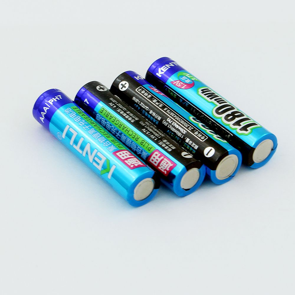 4 pièces KENTLI AAA lithium Battery1.5V 1180mWh Au Lithium ionique à membrane polymère AAA Batterie Rechargeable tension Stable AAA Batterie