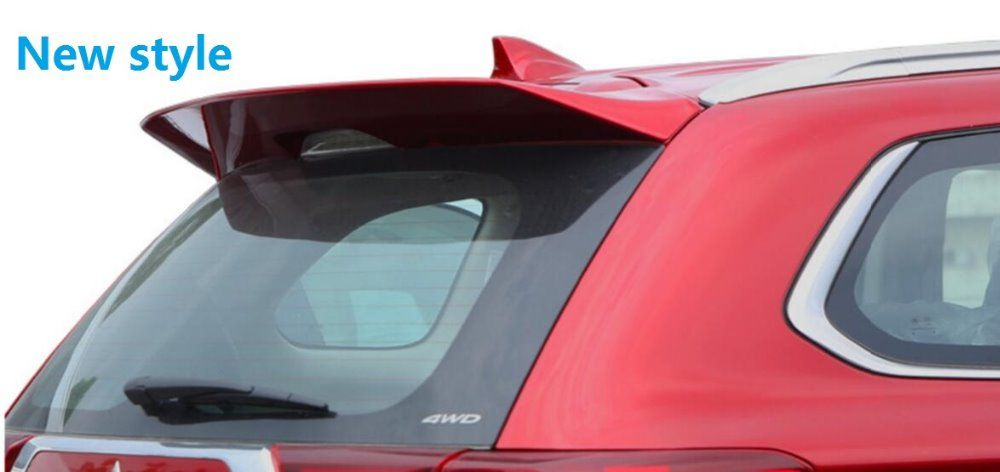 WOOBEST newest style ABS Rear Wing Rear Trunk roof visor Rear Spoiler for Mitsubishi outlander 2013 2014 2015 2016 unpainted