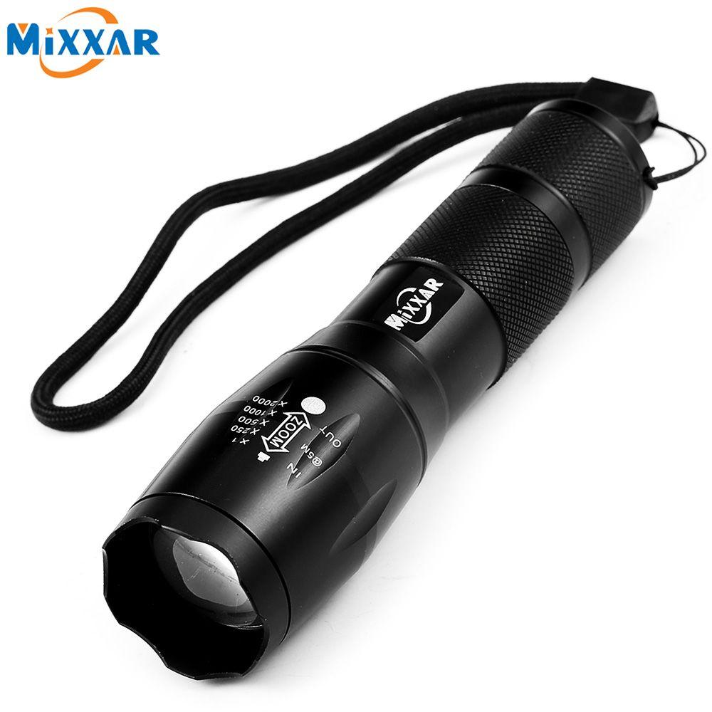 Zk59 Портативный светодиодный фонарик Масштабируемые фонарик 4000lm E17 CREE xm-l T6 светодиодный 5 свет режим для 18650 или 3xaaa Батарея