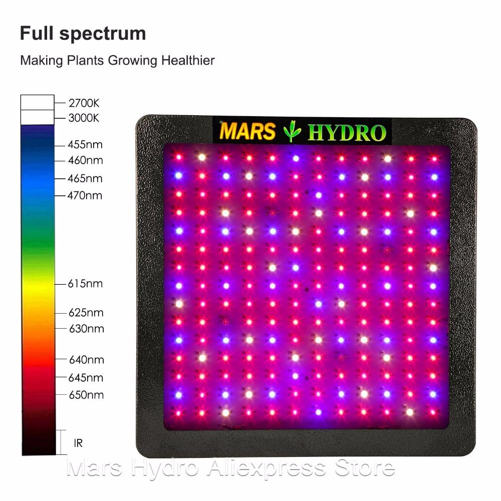 Mars II 900w LED Grow Light Lamp For Hydroponic Indoor Plants Veg&Bloom Switches Green House System