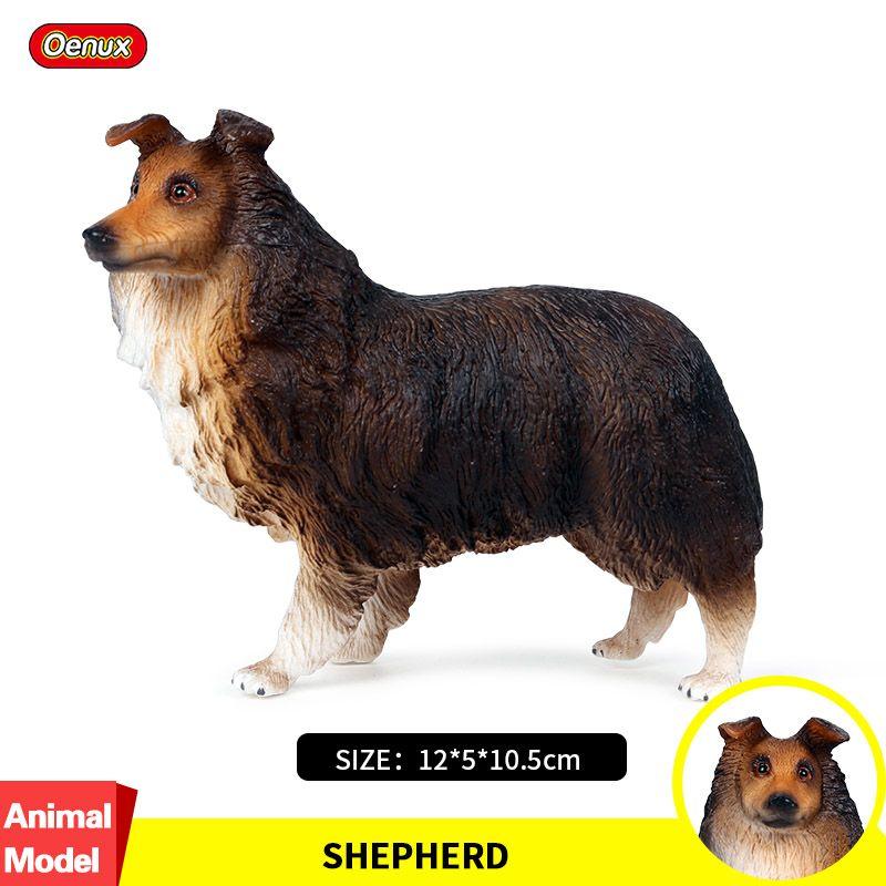 Oenux classique berger chien animaux Simulation belle Collie animaux de compagnie chien figurines modèle PVC haute qualité réaliste enfants jouet