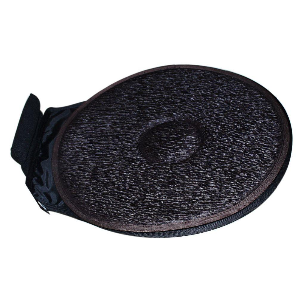 2ps Car Seat Revolving Rotating Cushion Swivel Foam Mobility Aid Chair Seat Cushion Coffee