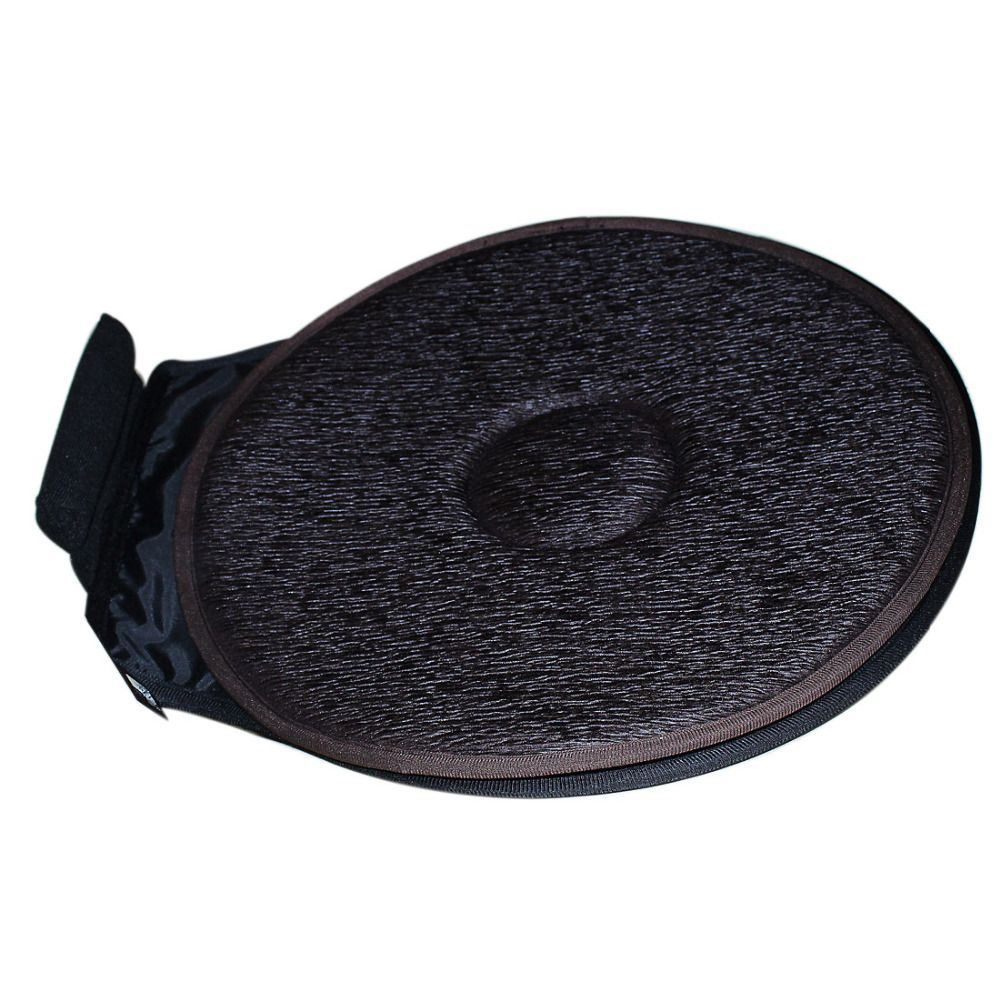 2ps Car Seat Revolving Rotating Cushion Swivel Foam Mobility Aid Chair Seat Cushion Coffee