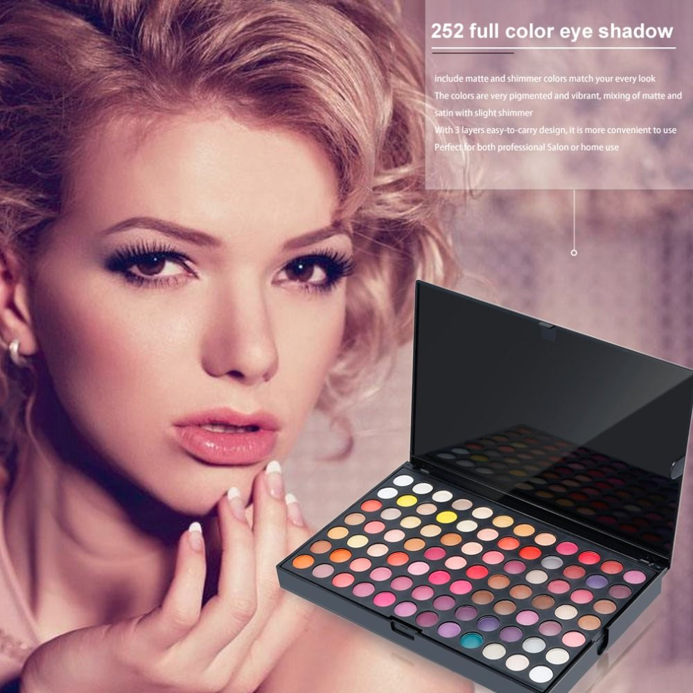 Full Professional 252 Colors Eye Shadow Palette 3 Layers Makeup Pallete Make Up Tool Shimmer Matte Eyeshadow Palette Beauty