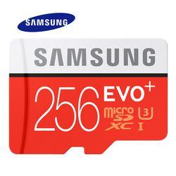 SAMSUNG Карты Памяти Micro SD 256 ГБ 128 ГБ 64 ГБ  32 ГБ 16 ГБ SDHC SDXC Класс EVO + EVO UHS Class 10 С10 TF Trans Flash Microsd