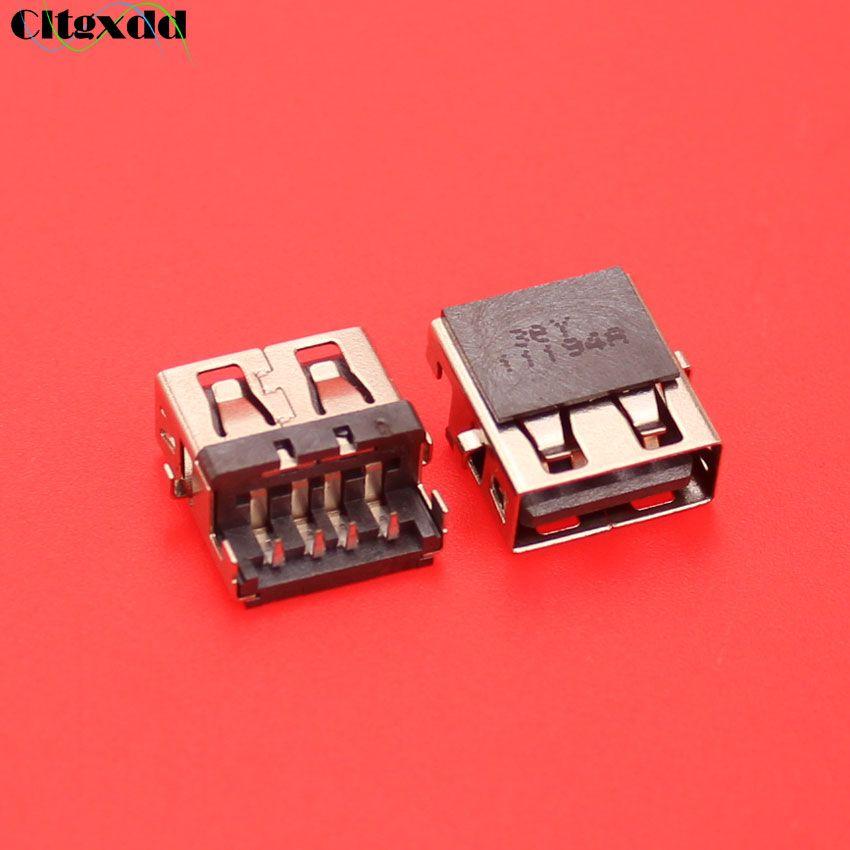 cltgxdd 5~30pcs For Lenovo G570 G570AH E320 Samsung 3 NP300E5C HP G4-1000 G6 G7 -1000 G62 Laptop USB jack socket port connector