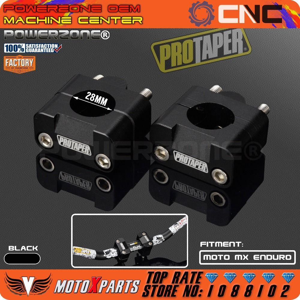 Pro Taper <font><b>HandleBar</b></font> Fat Bar Risers Mount Clamp Adapter 7/8 - 1 1/8 Universal Solid Mounts fit Motorcycle MX Enduro CRF YZF KXF