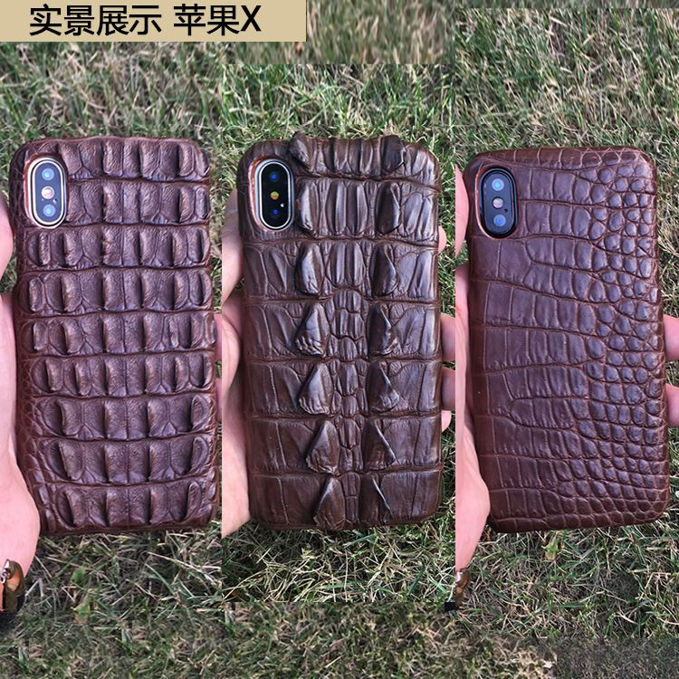 For iphoneX Natural Crocodile Skin Head Tail Abdomen Back Genuine Leather Back Cover Luxury Wholesale Phone Case For iphone X
