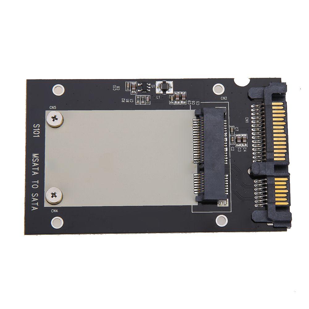 Hohe Qualität Gehäuse mSATA SSD zu 2,5 zoll SATA Konverter Adapter Karte SSD Gehäuse Fall