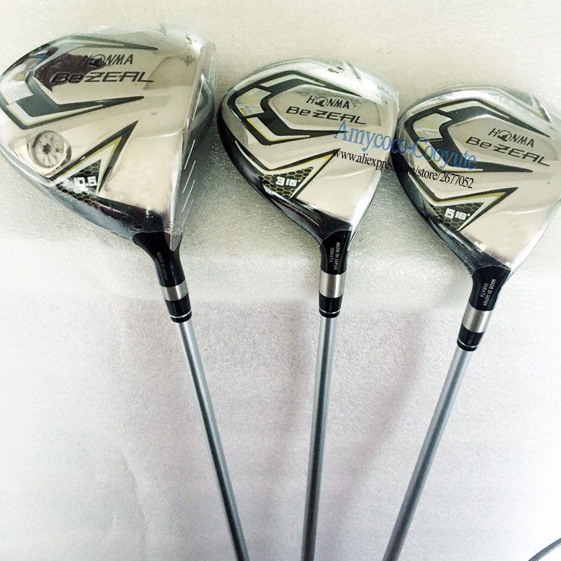 Cooyute Neue Golf Clubs HONMA BEZEAL 525 Golf holz Set 1.3.5.wood HONMA Golf Graphit welle Clubs holz headcover Kostenloser versand