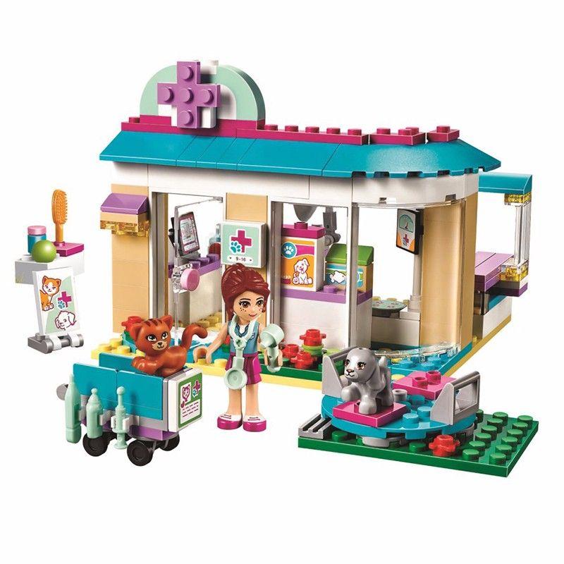 Hot 10537 Friends pet hospital vet Clinic Building Blocks Sets Diy Bricks Educational toys 41085 Compatible with Lego Best Gift