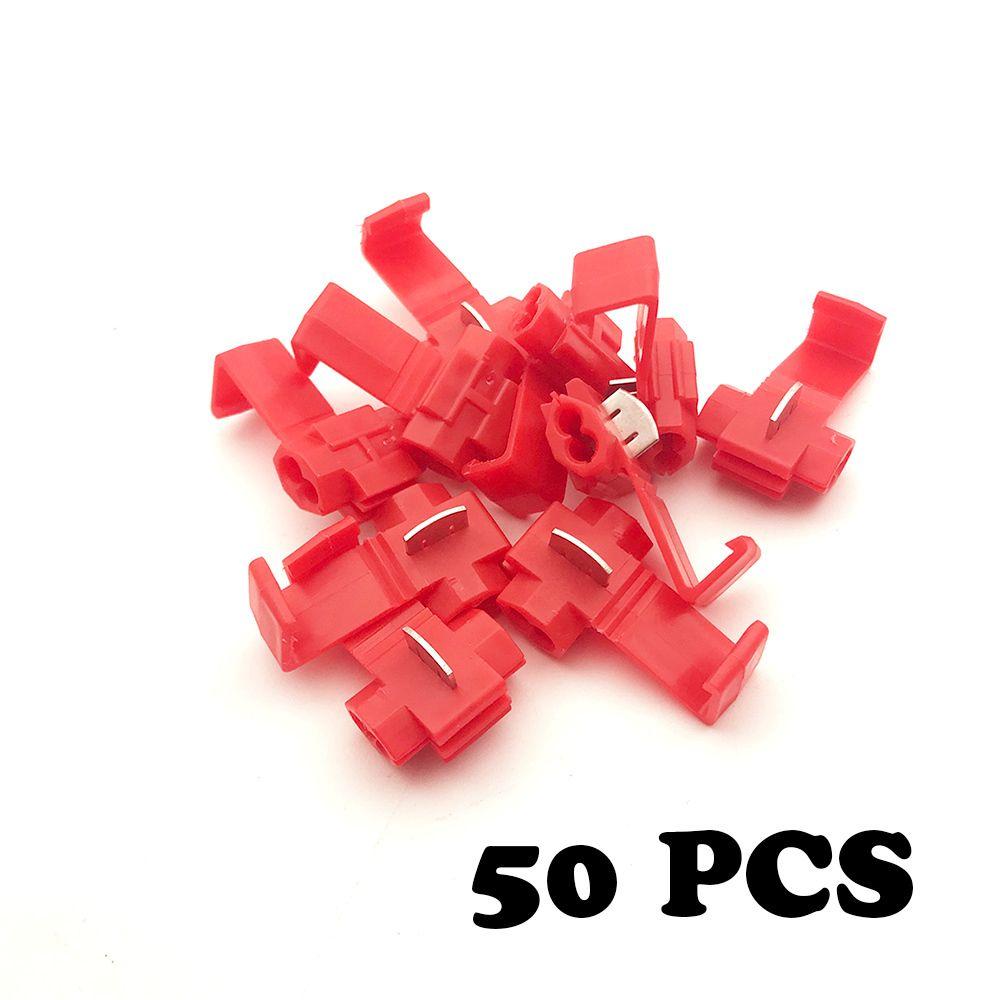 50 pcs Fil câblage bornes connecteur câble pince rapide connexion clip fil décapage livraison carte boucle