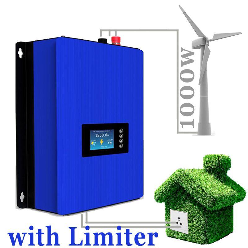 1000 watt Wind Power Grid Tie Inverter mit Limiter sensor/Dump Last Controller/Widerstand für 3 Phase 24 v 48 v wind turbine