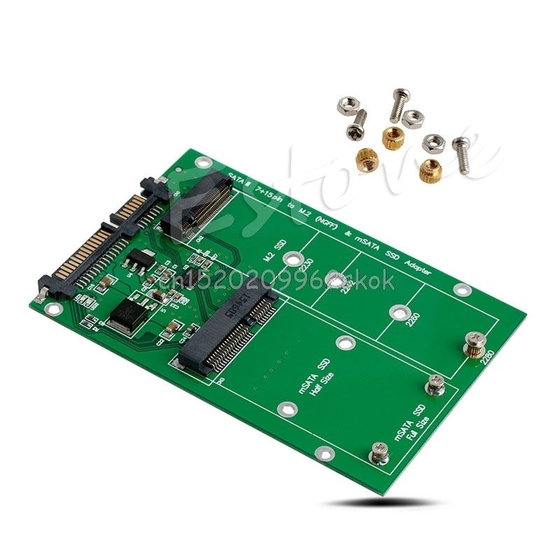Remplacement NGFF M.2 B + M CLÉ ou mSATA SSD SATA III 3 Conseil Adaptateur Carte # H029 #