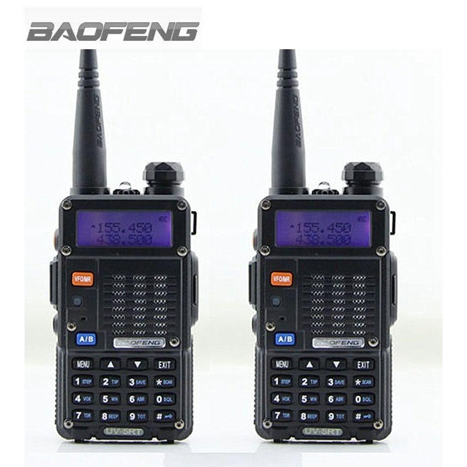 2 PCS BAOFENG UV-5RT Talkie Walkie à Deux Voies Radio FM Émetteur-Récepteur Interphone Dual-band DTMF Codé VOX Alarme LED lampe de poche
