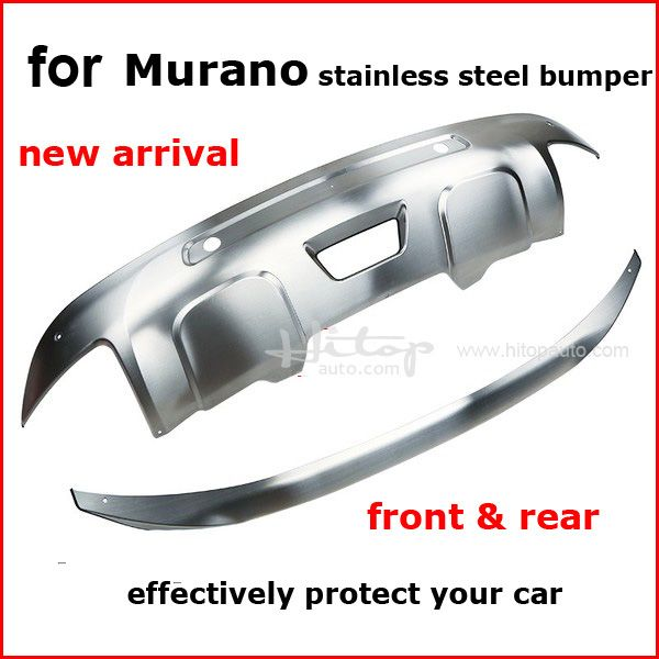stainless steel skid plate bumper protector bull bar for Nissan Murano 2015 2016 2017 2018, 2pcs/set, quality supplier