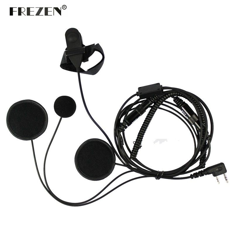 Motorcycle Full Face Helmet Headset PTT Mic For Kenwood BAOFENG CB Radio UV-5R UV-5RE Plus BF-F8+ GT-3 Walkie Talkie