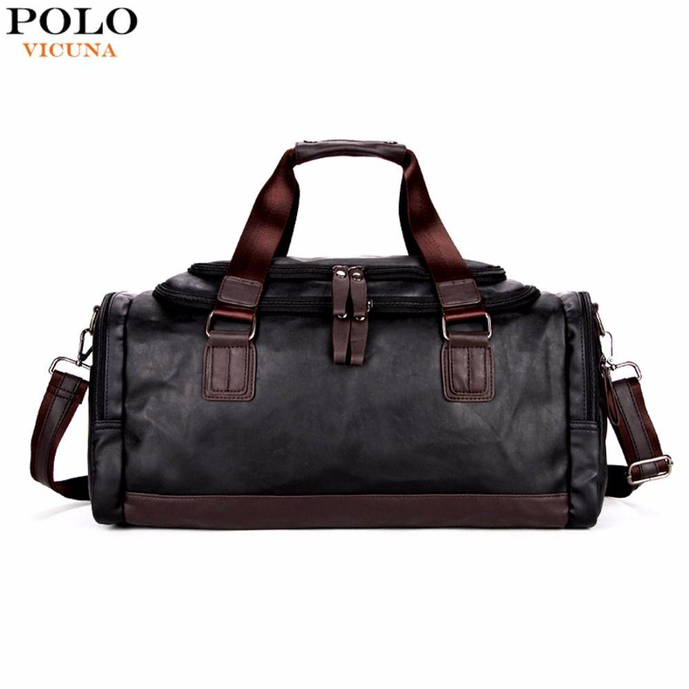 VIKUNJA POLO Große Kapazität Männer Reisetaschen Einfache Kontrast Schwarz Seesack Für Reise Casual Marke Reisetasche Für Männer neue