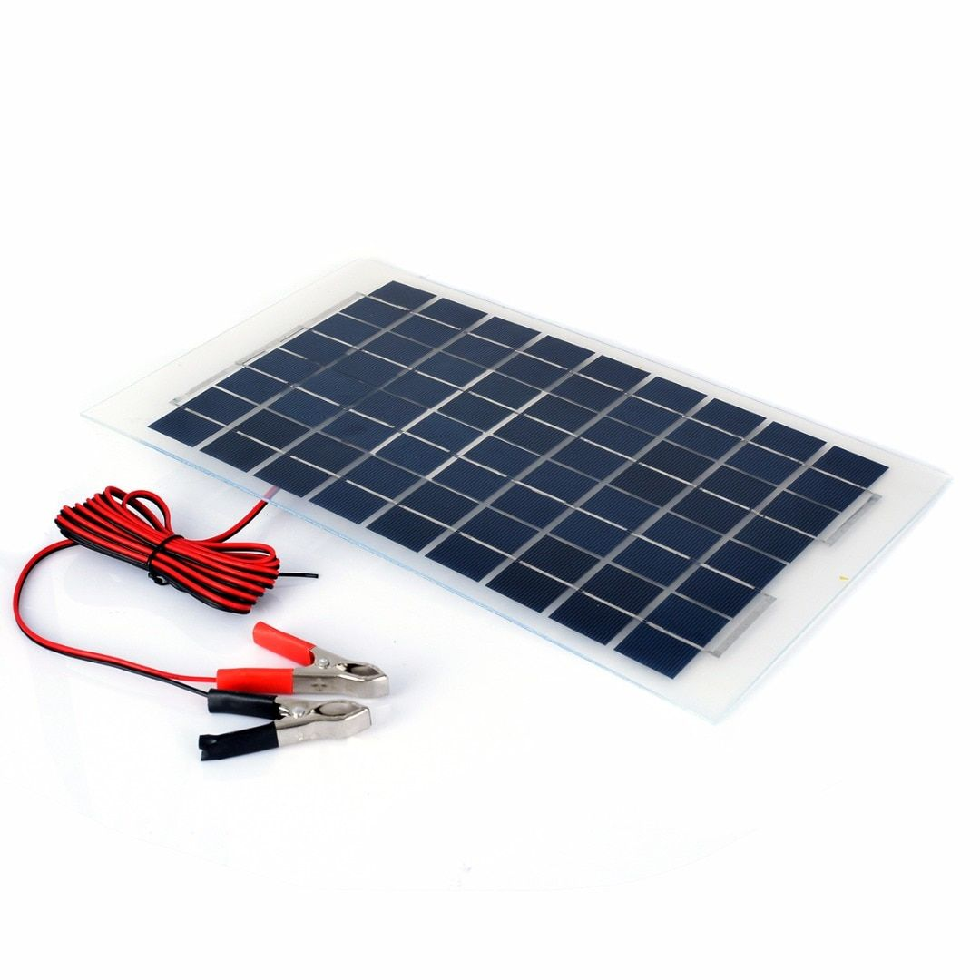 10W 12v Polycrystalline Energy Solar Panel Battery Module + Clips For Solar Water Pumps Electric Fans Lights Mayitr
