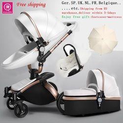 Free Shipping Aulon/Dearest Luxury Baby Stroller 3 in 1 High land-scape  Fashion Carriage European design Pram  on 2019