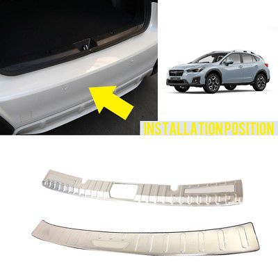 Äußere + Innere Hinten Sill Stoßstange Abdeckung Platte Für Subaru Impreza XV Hatchback 2017 2018