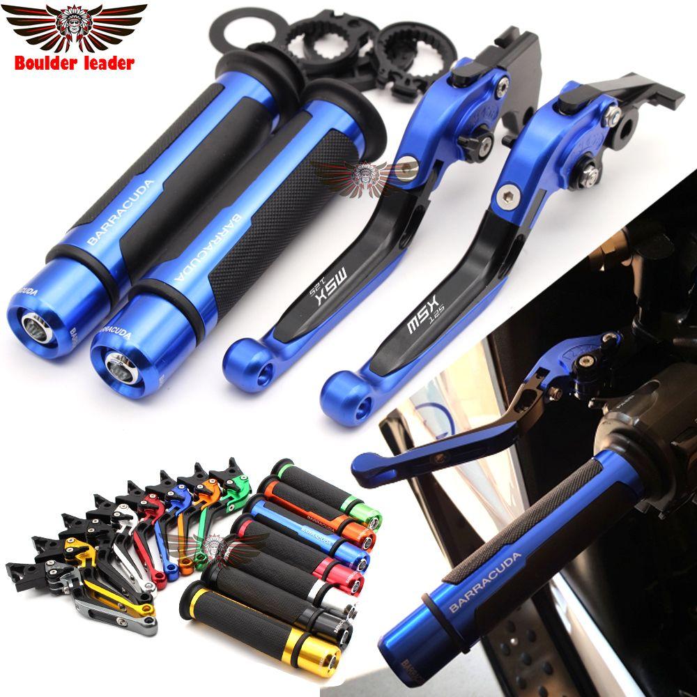 For Honda GROM MSX 125 2013 - 2015 Motorcycle Adjustable Folding Brake Clutch Levers Handlebar Hand Grips
