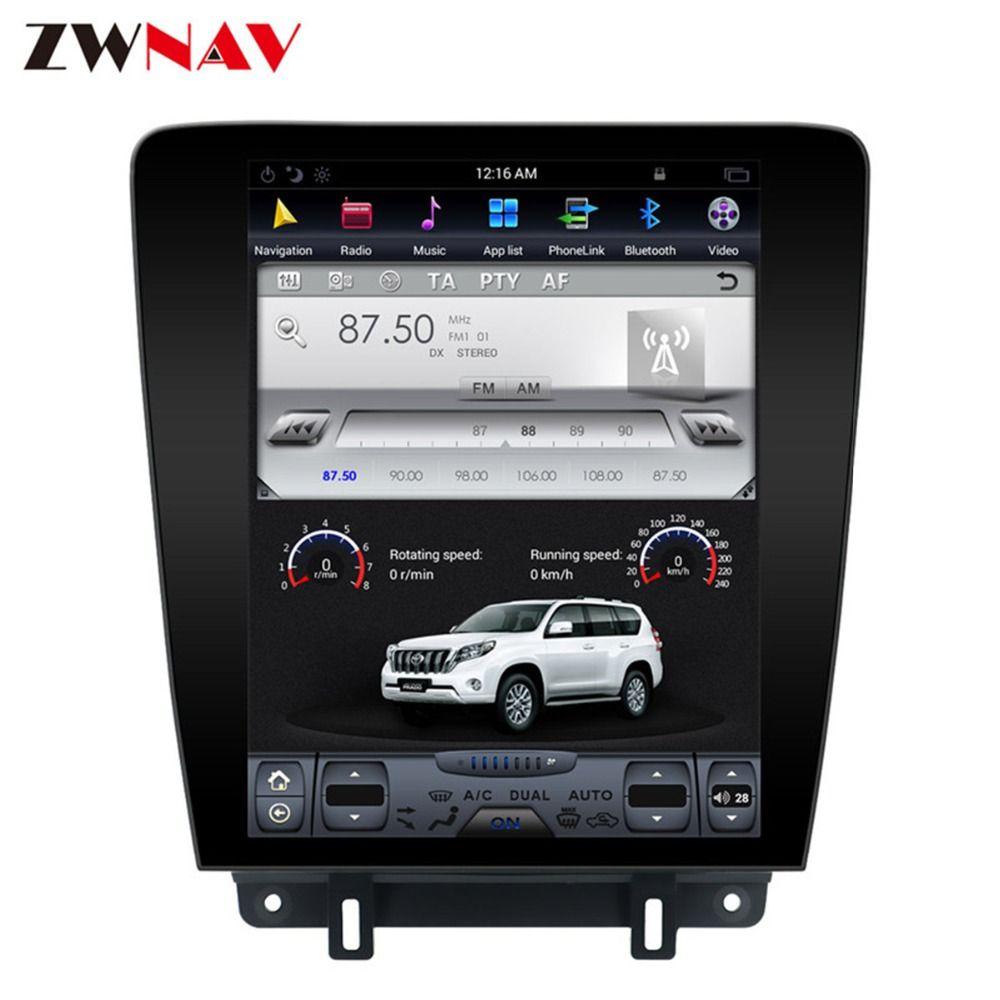Android 7.1 Tesla Stil ISP Bildschirm Keine DVD Player GPS Navigation Radio Bildschirm Für Ford Mustang 2010 2011 2012 2013 2014 kopf Einheit