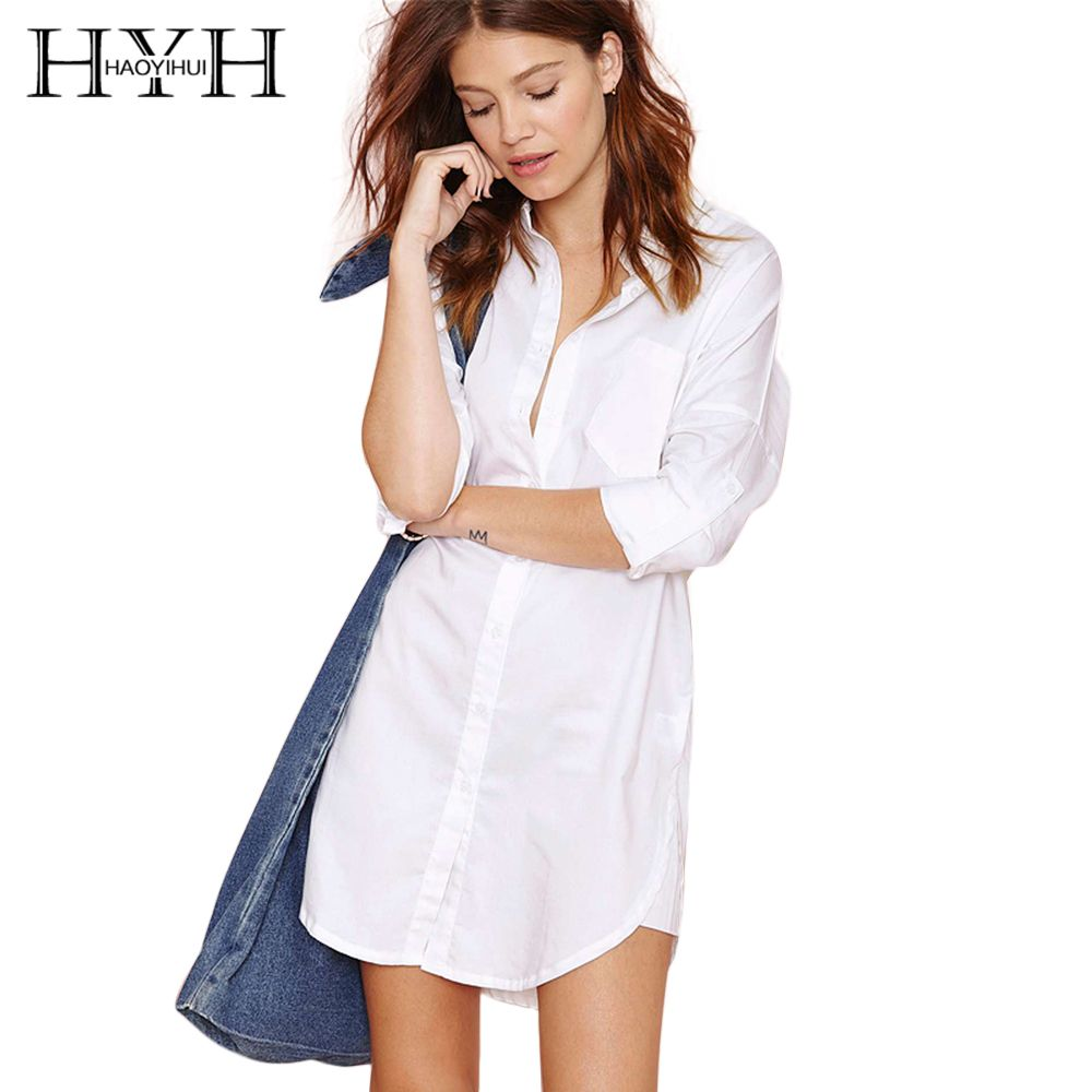 HYH HAOYIHUI Solid White Women Blouse Single Breasted Patchwork <font><b>Stand</b></font> Collar Shirts Pocket Half Sleeve Brief Casual Blouse