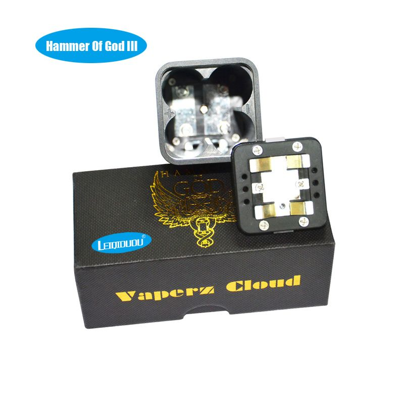 LEIQIDUDU Electronic cigarette hammer of the god V3 new mod box update for Atomizer Vape hammer of god can fit 4pc 18650 battery