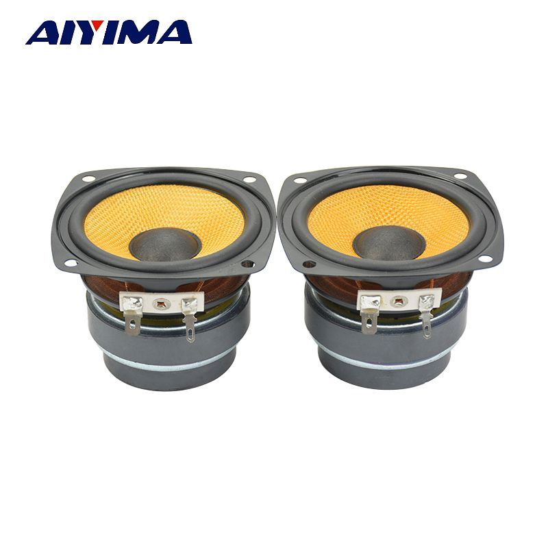 Aiyima 2pcs 3inch 6ohm Full frequency Speakers HiFi Double Magnet Fever Audio Loudspeakers