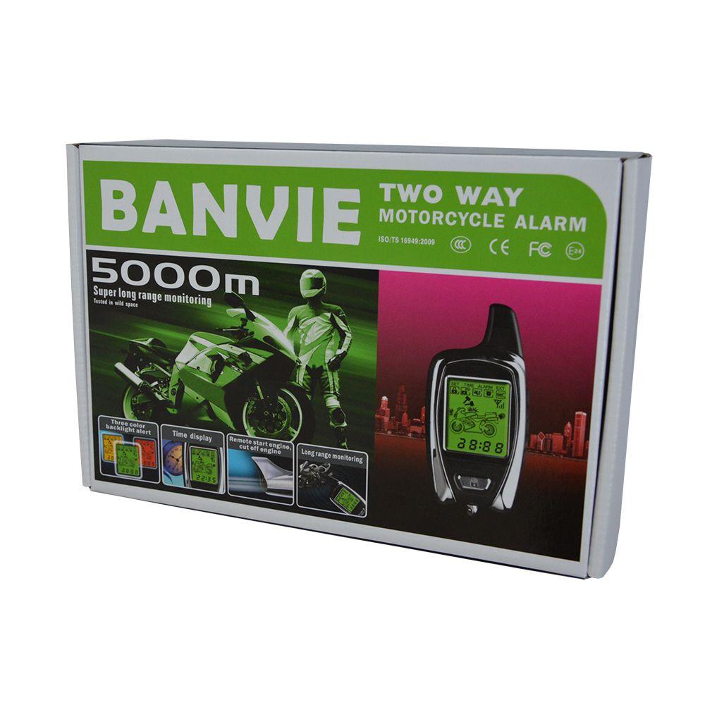 100% OEM de ESPION 5000 m 2 Façon Anti-vol de Moto système d'alarme de sécurité avec deux émetteurs LCD à distance démarrage du moteur