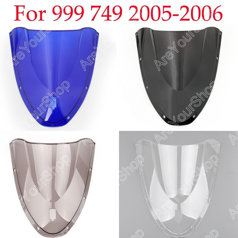 Areyourshop  Brand New 4 Colors for Ducati 999 749 2005-2006 Motorcycle Windscreen Windshield Double Bubble  Wind Screen