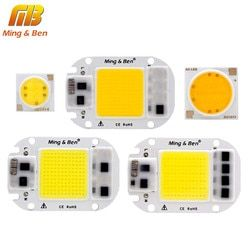Smart IC LED COB Chip AC 220V 110V 3W 5W 7W 9W 12W 15W 18W 20W 30W 50W LED Lamp Cover Lens Reflects DIY For LED Floodlight