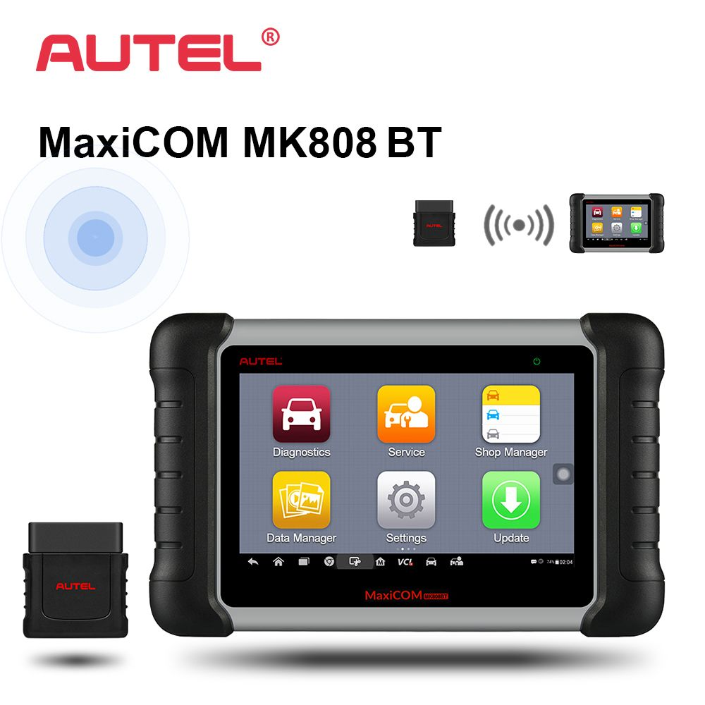 Autel MaxiCOM MK808 BT OBD2 Car Diagnostic Tool ODB2 scanner automotive code reader for key programming EPB IMMO DPF SAS TMPS