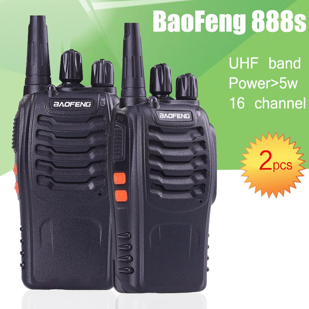 2pcs BaoFeng bf-888S UHF Rechargeable Walkie Talkies 888s two Way Radio Communicator Portable Handheld Two Way Radio Transceiver