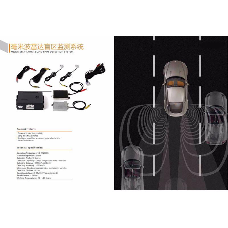Millimeter Welle Radar Blind Spot Detection System BSD BSA BSM Mikrowelle Blind Überwachung Assistent Autofahren Sicherheit