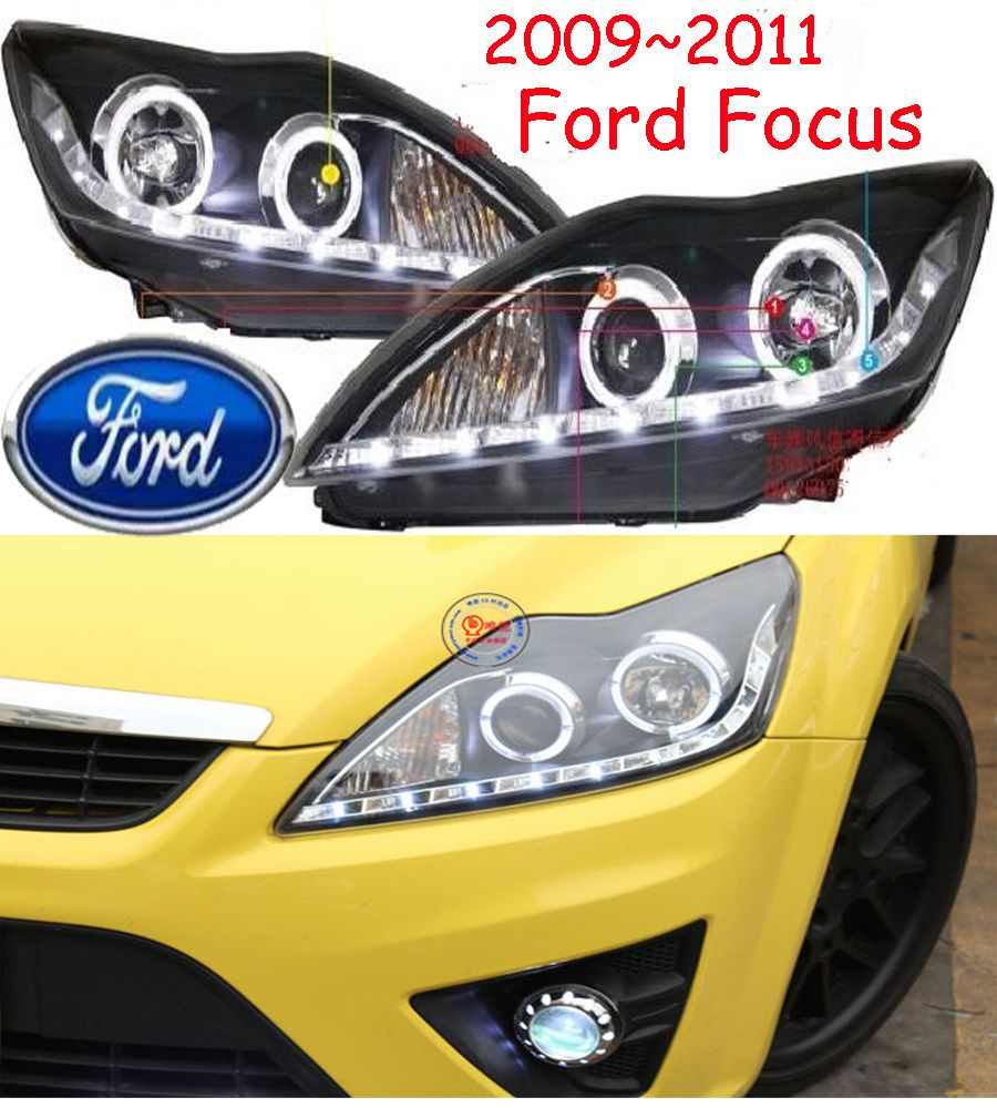 car headlight,2009~2011/2012~2014,Free ship!car fog light,2ps/se+2pcs Ballast,Transit,Edge,ecosport,kuga,escape