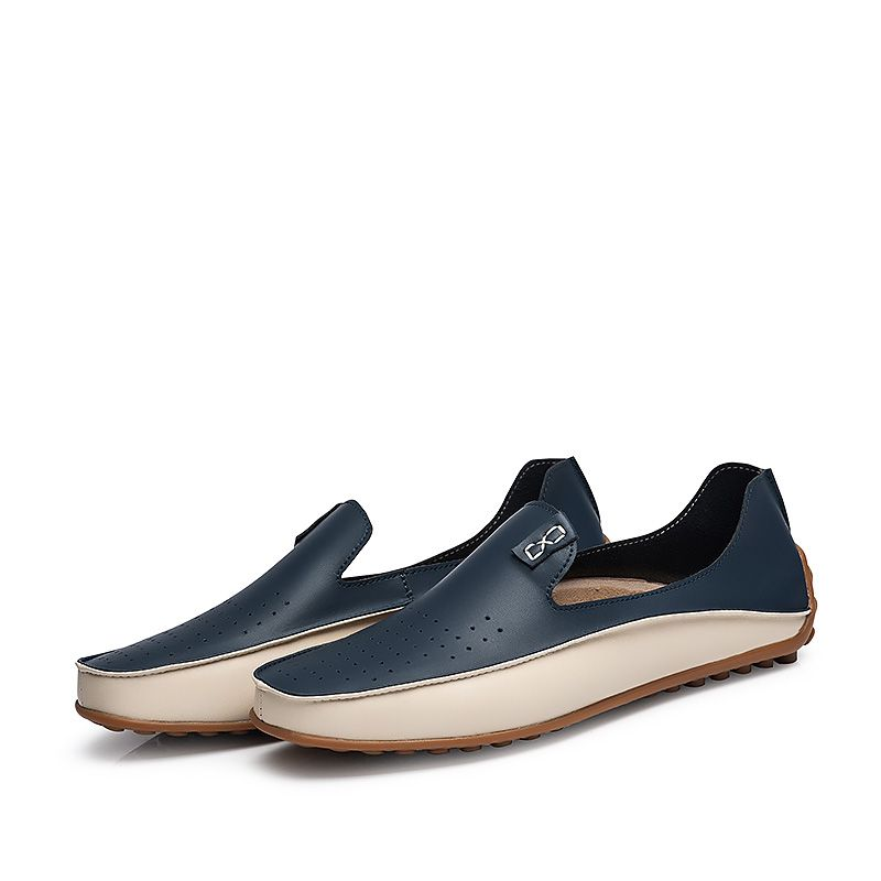 Brand Summer Causal Shoes Men Loafers Genuine Leather Moccasins Men Driving Shoes High Quality Flats For Man Plus size