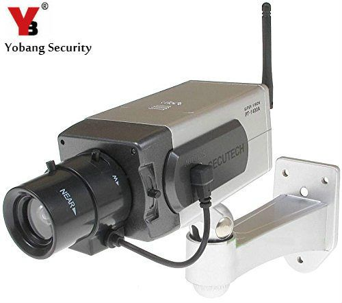 YobangSecurity Fake Dummy CCTV Camera Motion Detection Sensor Motorized Pan Movement LED