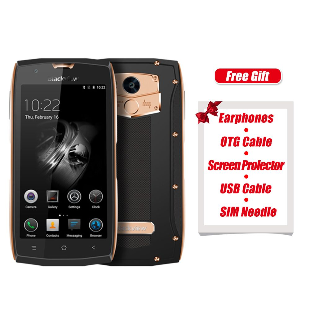 Original Blackview BV7000 Pro 4G 5.0 Inch Android 6.0 MTK6750 1.5GHz Octa Core 4G+64G IP68 Waterproof 8.0MP+13.0MP Smartphone