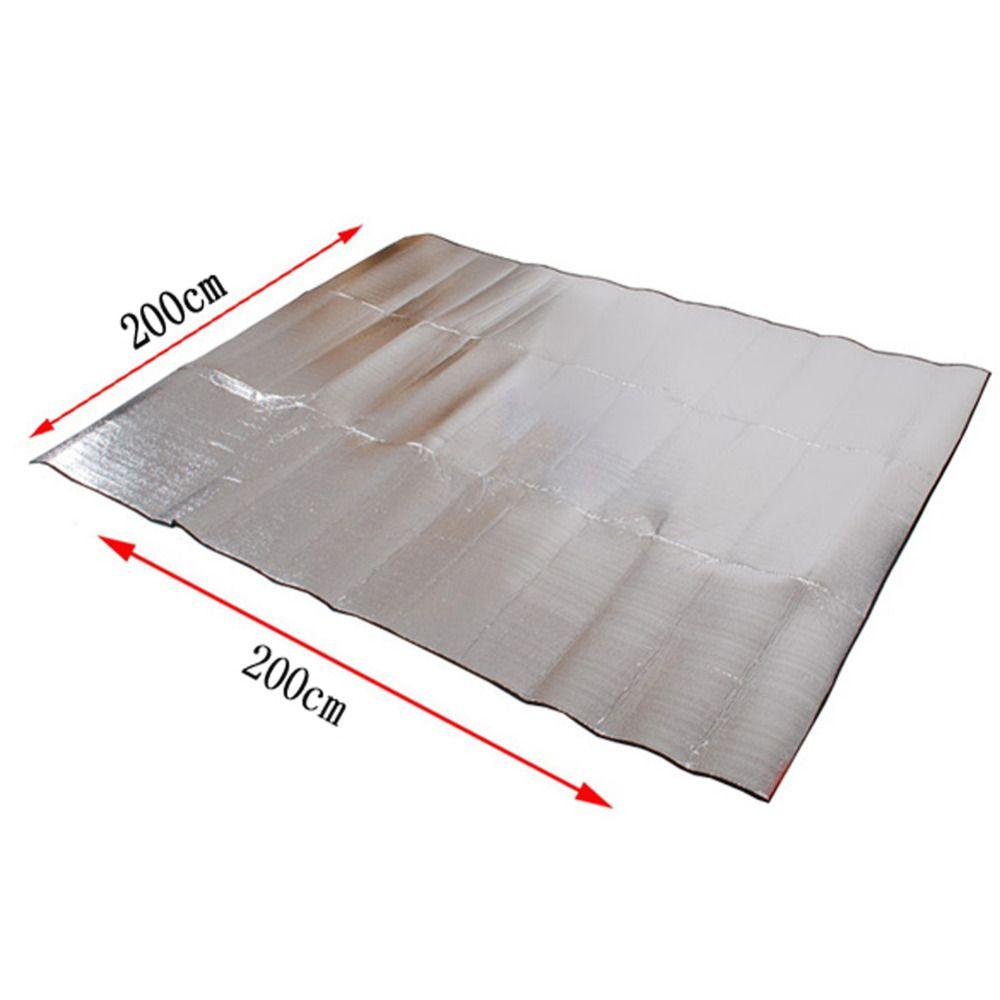 3 Größen Faltbar Camping Matte Klapp Isomatte Matratze Außen Travel Wasserdicht Picknick-matte Aluminiumfolie + EVA Pad