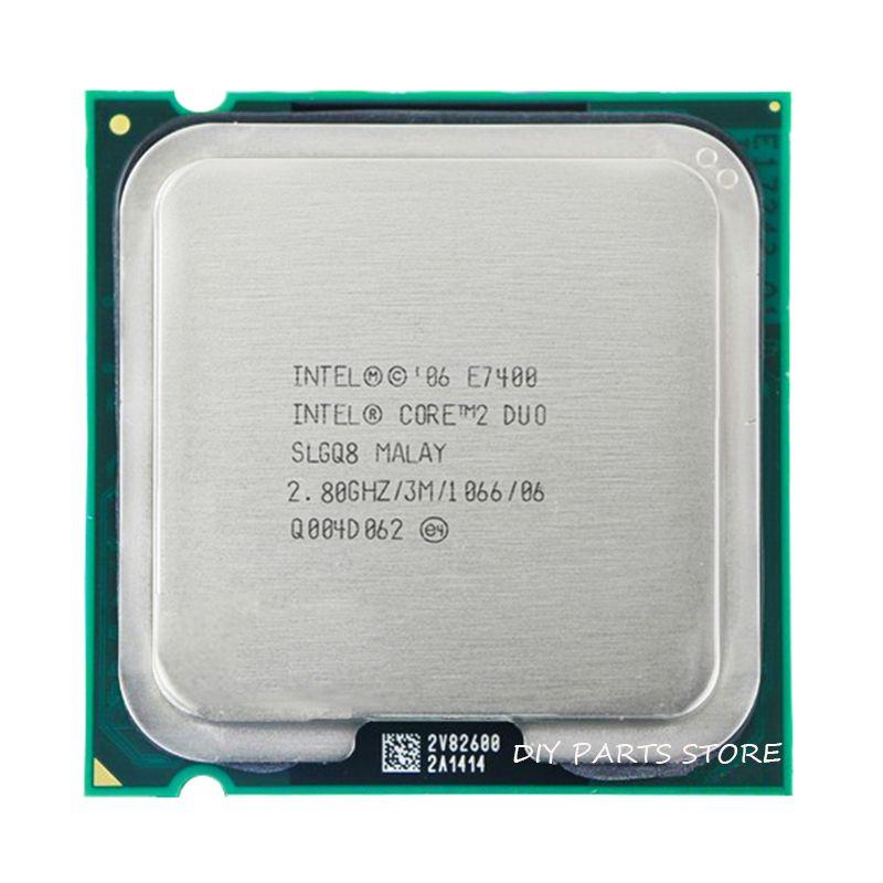 Processeur d'unité centrale INTEL Core 2 Duo E7400 Socket LGA 775 (2.8 Ghz/3 M/1066 GHz)