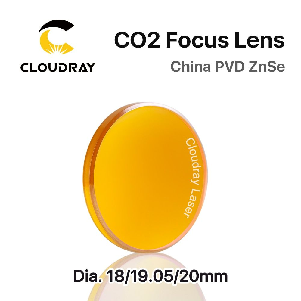 Cloudray China CO2 ZnSe Focus Lens Dia.18 19.05 20 mm FL38.1 50.8 63.5 101.6 127mm 1.5 - 4 for Laser Engraving Cutting Machine