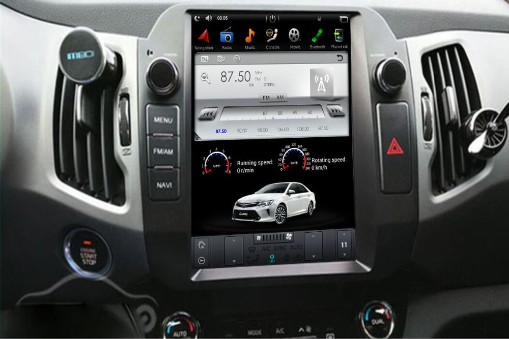 Tesla Stil IPS Plus Bildschirm Android 7.1 6,0 Auto Keine DVD-Player GPS Navigation Für Kia Sportage R 2010 2011 2012 2013 2014 2015