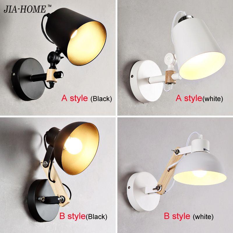 Modern Sconce Lighting <font><b>Wall</b></font> Mounted Bedside Reading Light Creative <font><b>Wall</b></font> lamp Living Room Foyer Home Lighting Rustic <font><b>Wall</b></font> Sconces