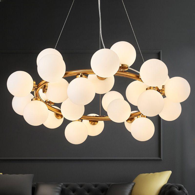 Nordic DNA Pendant Lamps ceiling hanging light LED Vintage Pendant Lights for living room Glass Branch Bean Light Fixtures