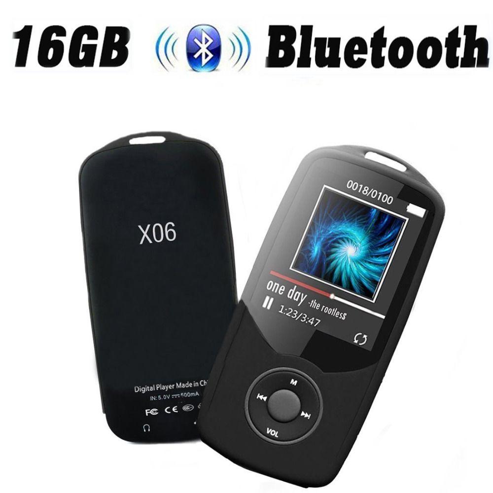RUIZU MP4 Player Bluetooth 8GB 16GB Sport 1.8 inch Screen MP4 Music Player High Quality Lossless Recorder FM blutooth